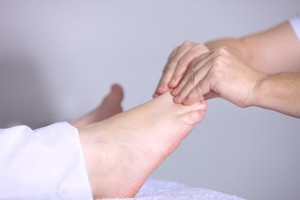 physiotherapy on foot