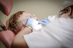 dentist with boy